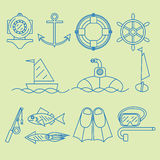 Set contour icon Royalty Free Stock Photography