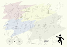 Set of conventional human figures Stock Photo