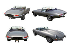 Set of convertible sports cars - Jaguar E-Type Royalty Free Stock Photo