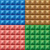 Set of convex pyramids Royalty Free Stock Photos