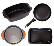 Set of cook pan. Isolated on white background Royalty Free Stock Photography
