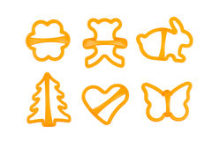 Set of cookie cutters isolated Royalty Free Stock Image