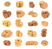 Set of cookies, bun and drying Stock Images