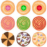 A set cookies. Flat design,  illustration Royalty Free Stock Image