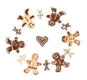 Set of cookies Gingerbread Man Stock Image