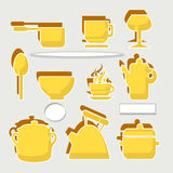 Set cooking. Background with  objects for cooking Royalty Free Stock Photo