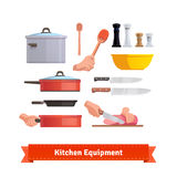 Set of cooking equipment Stock Image