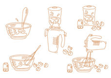 A set of cooking icons Stock Photos