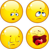 Set of cool emoticons. Stock Photos