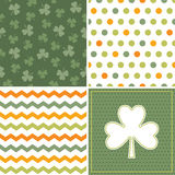 Set of cool seamless background patterns in orange royalty free stock photography