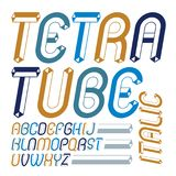 Set of cool vintage vector upper case English alphabet letters,. Abc isolated. Retro italic rounded font, typescript for use in logo design. Created using Stock Photos