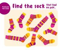 Set of cool warm striped socks. Kid mind game Royalty Free Stock Image