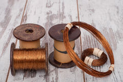 Set of copper wires. Stock Photography