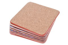 Set cork mats Royalty Free Stock Photo