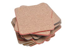 Set cork mats Royalty Free Stock Images