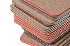 Set cork mats Stock Photos