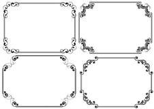Set of corner horizontal frame Royalty Free Stock Photo