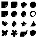 Set of corner lebel icons Stock Photography