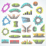 Set of cororful music equalizer vector design Stock Photos