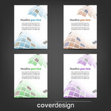 Set of corporate flyer, poster template or cover design. Illustration, design with place for your content or creative editing Royalty Free Stock Photos