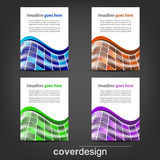 Set of corporate flyer, poster template or cover design. Illustration, design with place for your content or creative editing vector illustration