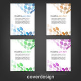 Set of corporate flyer, poster template or cover design. Illustration, design with place for your content or creative editing Royalty Free Stock Photography