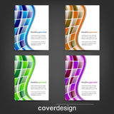 Set of corporate flyer, poster template or cover design. Illustration, design with place for your content or creative editing Stock Photos