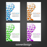 Set of corporate flyer, poster template or cover design. Illustration, design with place for your content or creative editing stock illustration