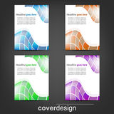 Set of corporate flyer, poster template or cover design. Illustration, design with place for your content or creative editing royalty free illustration