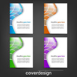 Set of corporate flyer, poster template or cover design. Illustration, design with place for your content or creative editing Royalty Free Stock Images