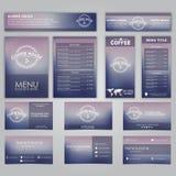 Set of corporate identity Stock Photos