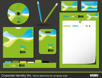Set of corporate identity templates Stock Photo