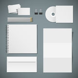 Set of corporate identity templates Stock Photos