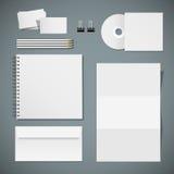 Set of corporate identity templates Stock Photos