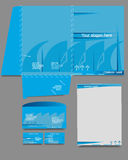 Set of corporate identity templates, business Royalty Free Stock Photo