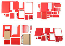Set of corporate identity templates on white. Stock Photography