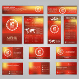 Set of corporate identity Royalty Free Stock Images