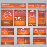 Set of corporate identity Stock Photos