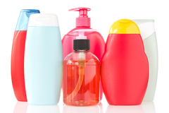 Set of cosmetic bottles Royalty Free Stock Photos