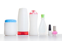 Set of cosmetic bottles Stock Photography