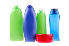 Set of cosmetic bottles Royalty Free Stock Images