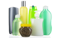 Set of cosmetic bottles Royalty Free Stock Image
