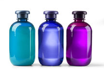 Set cosmetic bottles Royalty Free Stock Images