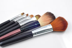 Set of cosmetic brush. A set of cosmetic brush, fashion and beauty, tool set Stock Photo
