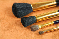 Set of cosmetic brushes Royalty Free Stock Photo