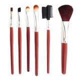 Set of cosmetic brushes isolated. Some different kind of make-up brushes isolated on white Stock Images