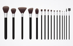 Set of Cosmetic Brushes for Make up Stock Photo