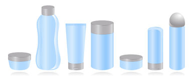 Set of cosmetic container templates. Stock Images