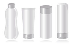 Set of cosmetic container templates. Vector-Illust Stock Images