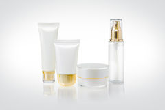 Set of cosmetic containers Stock Images